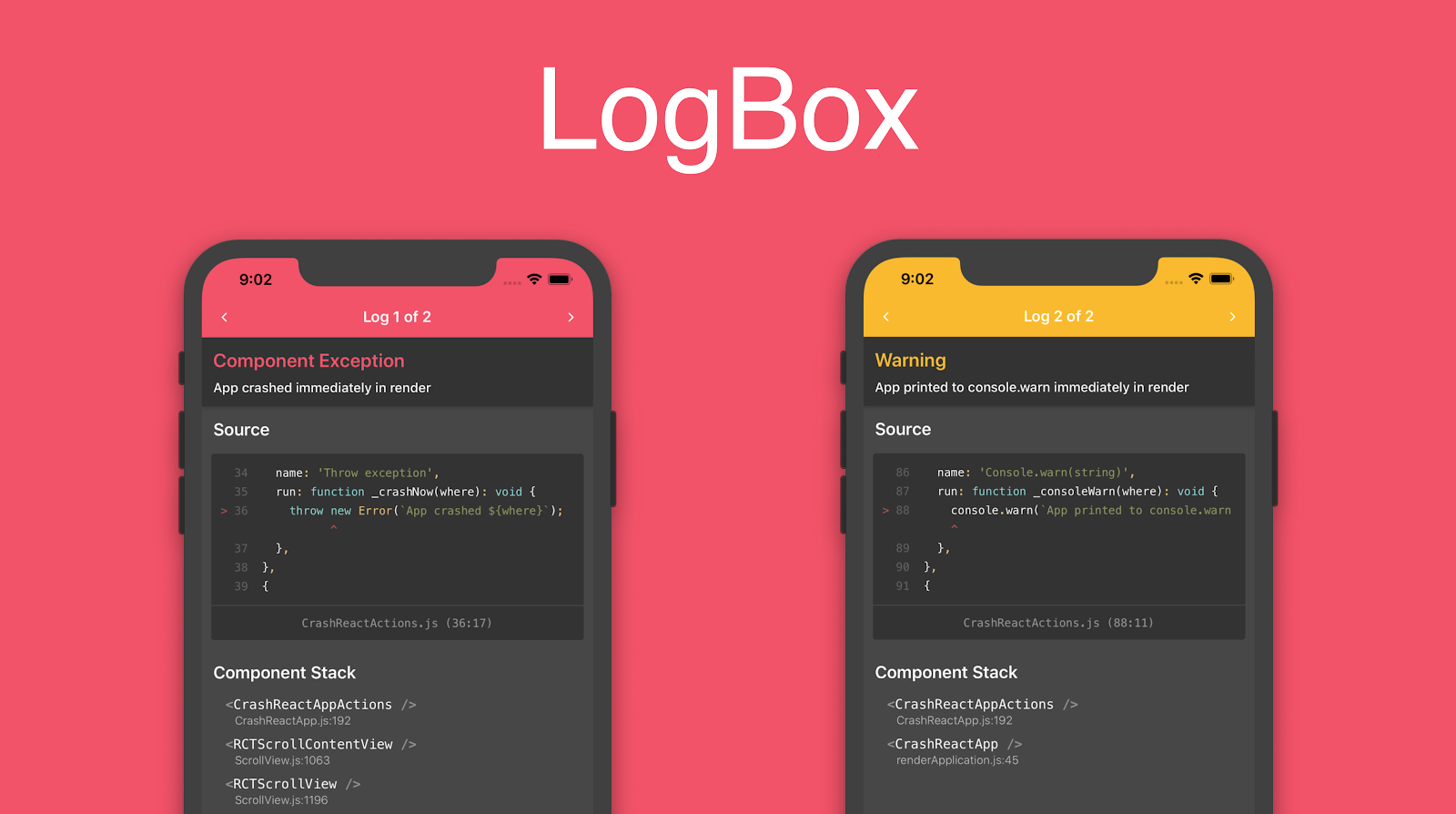 Screenshot of LogBox