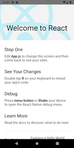 AwesomeProject trên Android