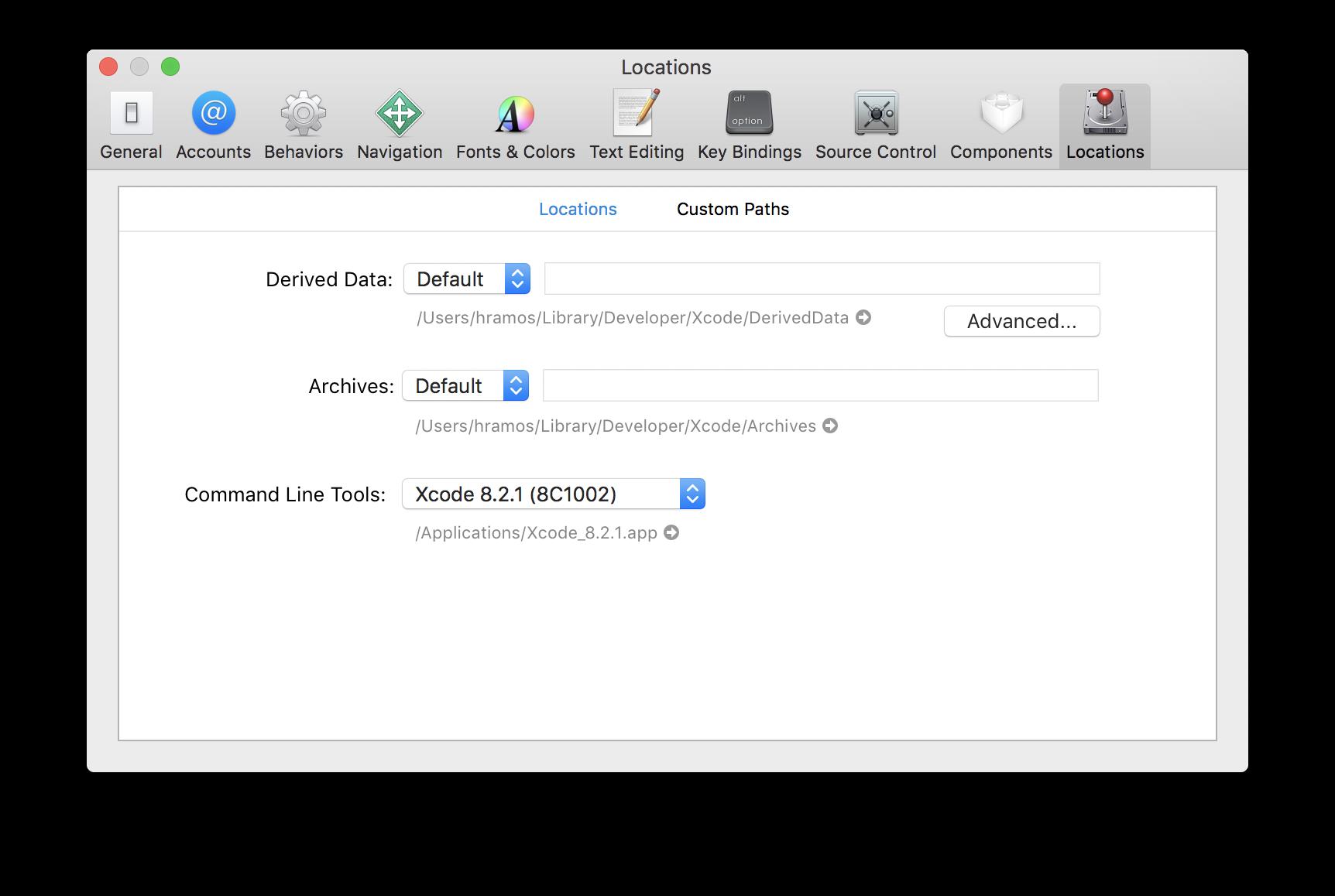Công cụ dòng lệnh Xcode